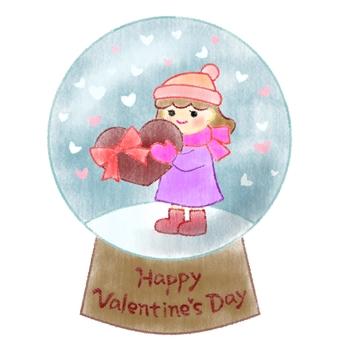 발렌타인 스노우 글로브 3 (그린 바람)