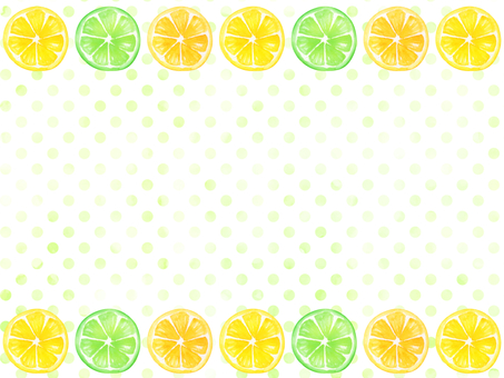 Watercolor hand-painted fruit and dot pattern