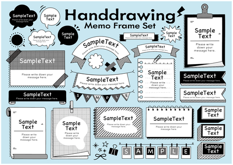 Hand drawn memo frame