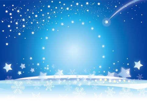 Winter night sky background