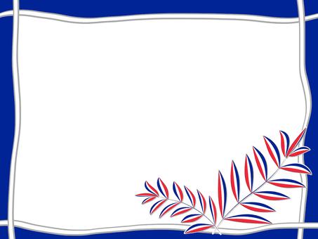 Tricolor leaf (blue)