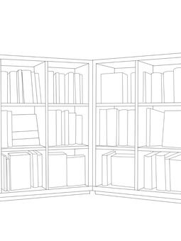 Bookshelf B & W 2