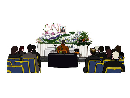 Temple sutras and funerals