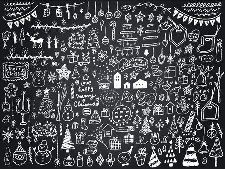 013 Blackboard Art Christmas