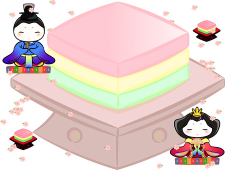 Hina Matsuri / Princess decoration (rhinestone plate)