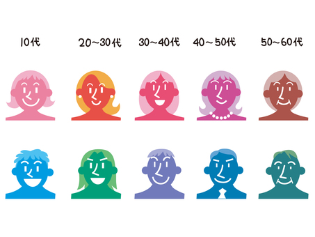 People of various ages icon