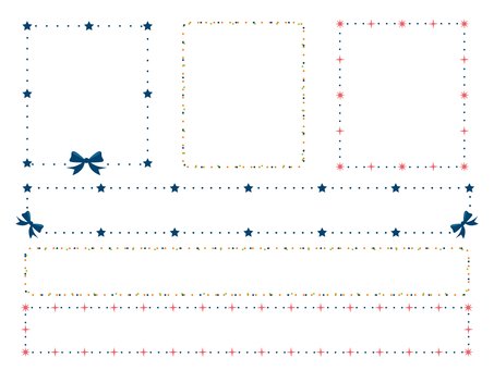Star and ribbon and decoration frame of polka dot 2
