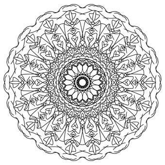 單色花卉圖案花邊