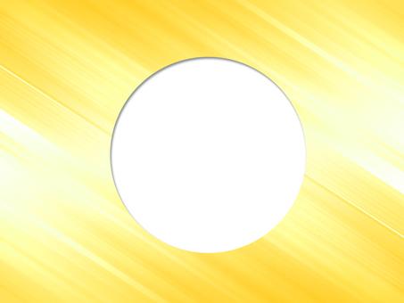 Round frame yellow
