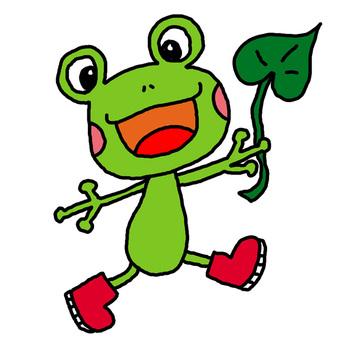 青蛙的紅色靴子