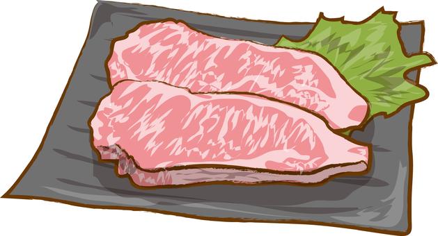 Sirloin steak meat
