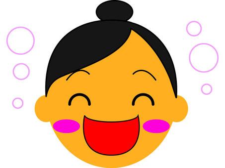 Cut face icon female delight