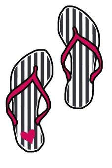 Stripe beach sandals