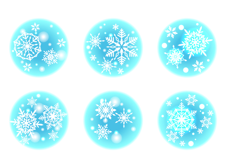 Snow flake illustration material