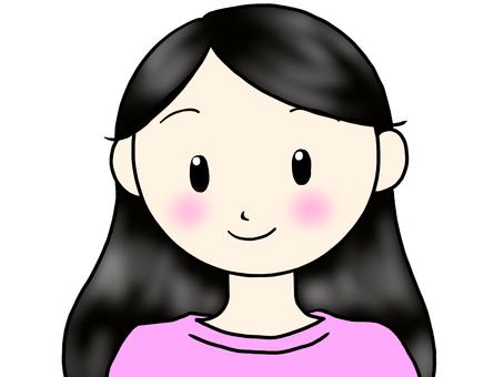 Black hair woman 2