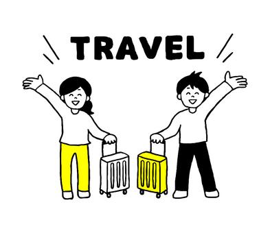 여행 남성 여성 (단순)