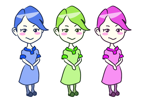3 color women