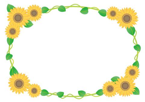Sunflower frame (circle)