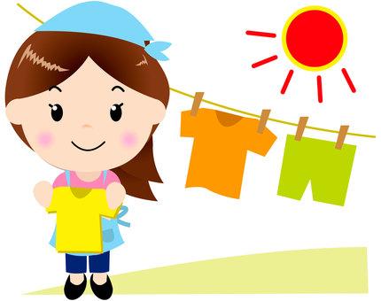 Apron ladies (washing)