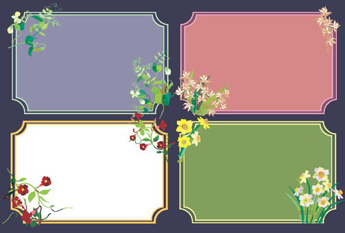 Various flower frames 2