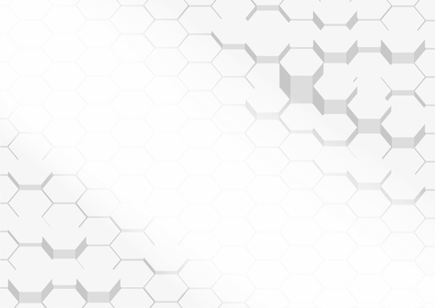 White hexagon digital geometric pattern abstract background material