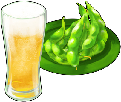 Beer and Edamame Outlined
