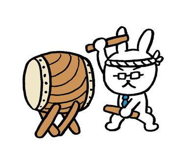 うさぎ先生 太鼓