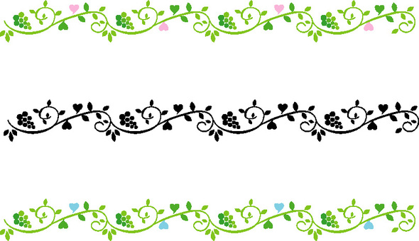 Leaf and heart decoration line