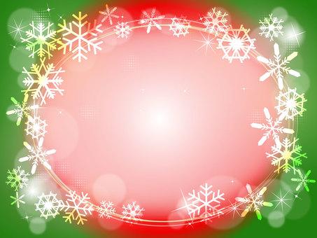 Winter landscape background (Christmas color)