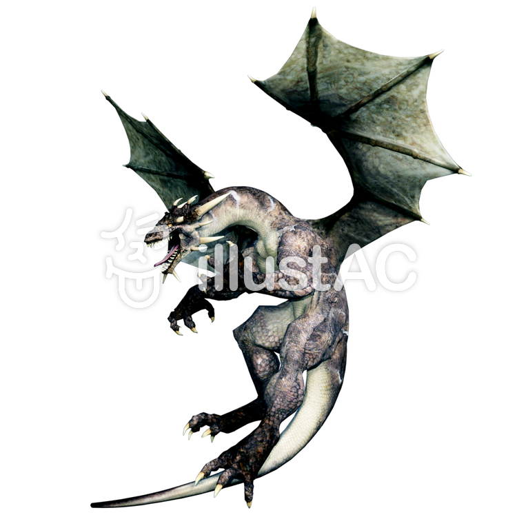怒れるドラゴンのイラスト