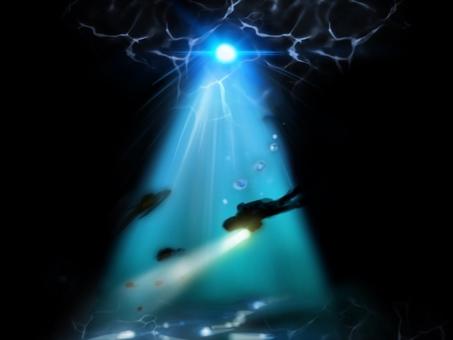 Beautiful sea diving