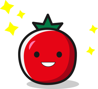 Illustration of tomato character