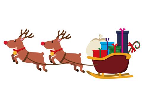 크리스마스 소재 썰매