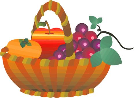 Fruit platter in autumn