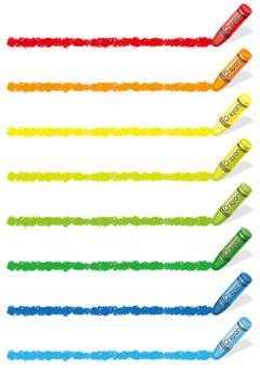 Border set drawn with crayons