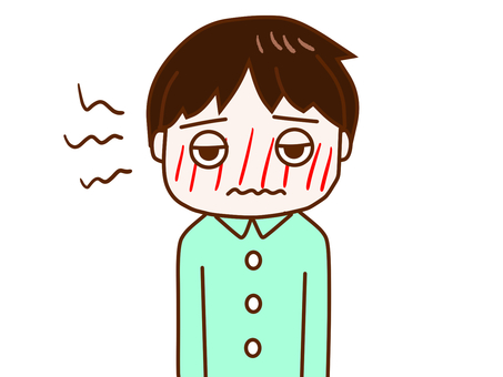 A boy who got a fever