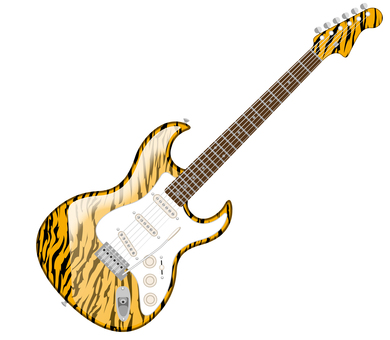 Electric guitar tiger print tiger