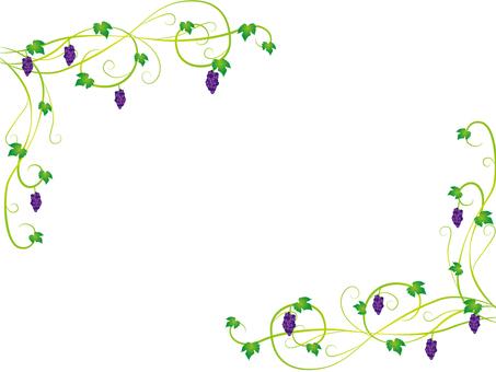 Autumn frame grapes
