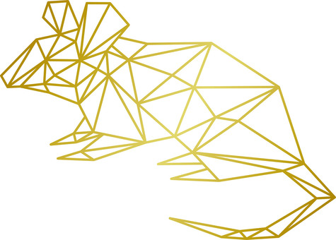 Mouse (3D / Polygon / Frame / Three-dimensional)