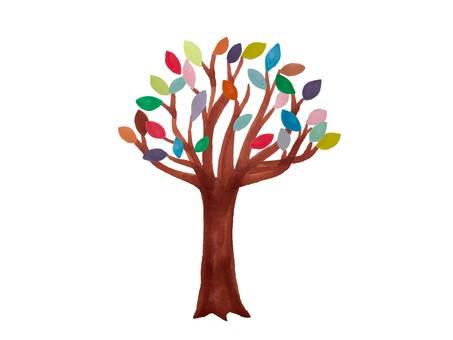 Colorful leaf tree