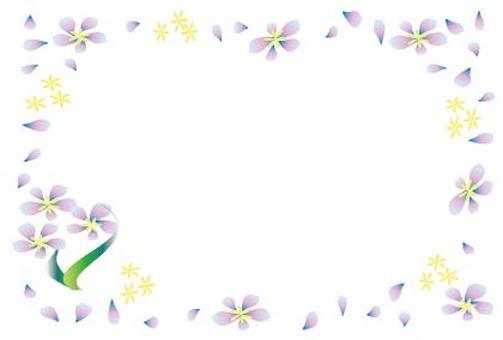 Stylish frame frame of light purple floral design