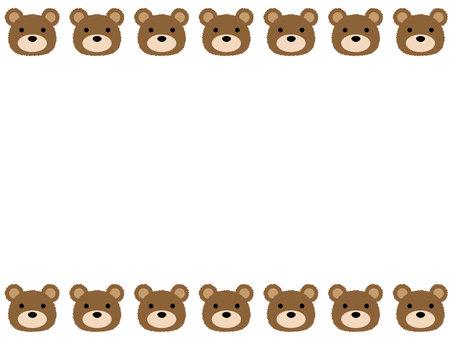 곰의 얼굴 프레임 / 테두리