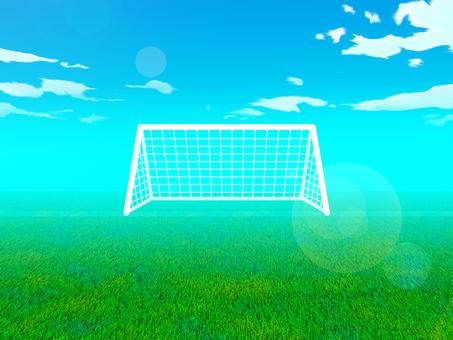 Soccer field background illustration