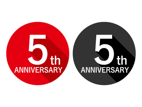 Anniversary Label 5th Anniversary 5th