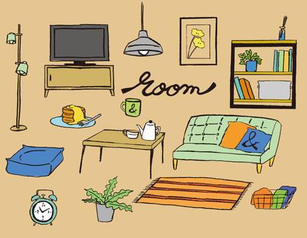 房間的家具