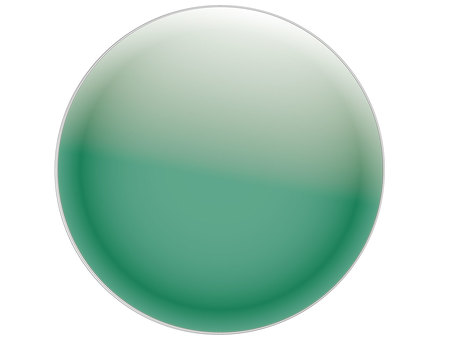 Round button true green