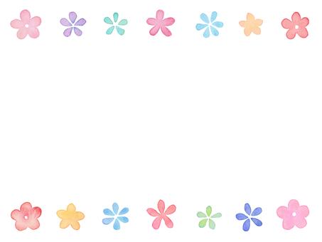 Watercolor Flower Frame C2