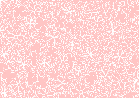 Flower pattern pink white