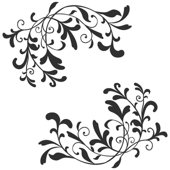Art Nouveau Decoration 02 (Black)