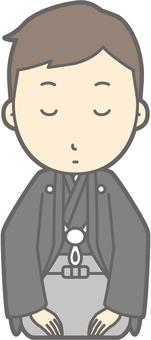 Groom Kimono - Kaori Oshima - whole body